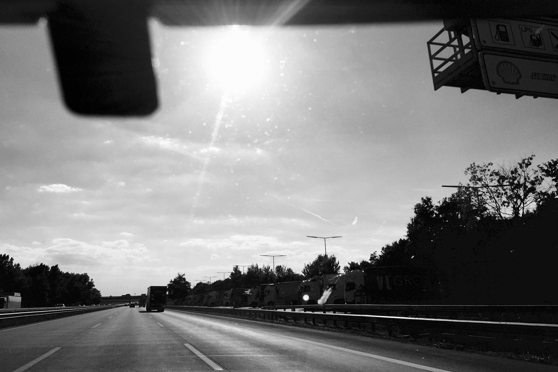 Pendeln auf der Autobahn - Sommer 2016